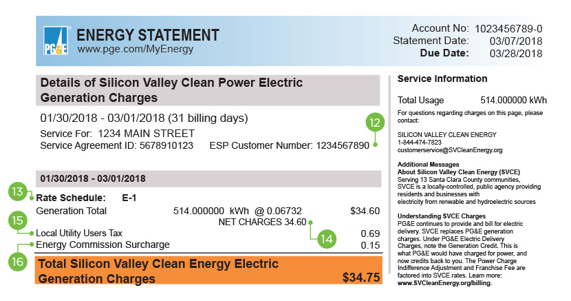 PG&E BILL 4 Enrollment Electric Only