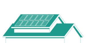 illustration of solar panels on home