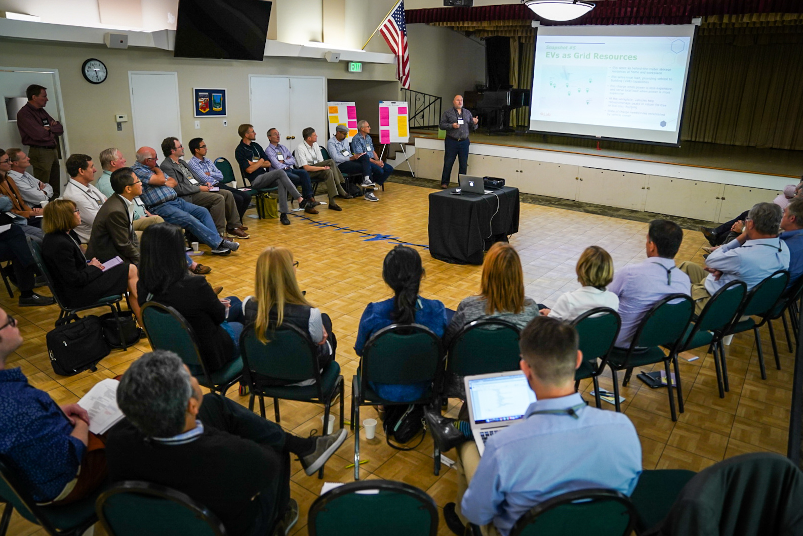 SVCE Staff addressing crowd of innovators