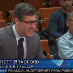 Brett Bradford of Pisenti & Brinker, LLP presenting audit report agenda item 2