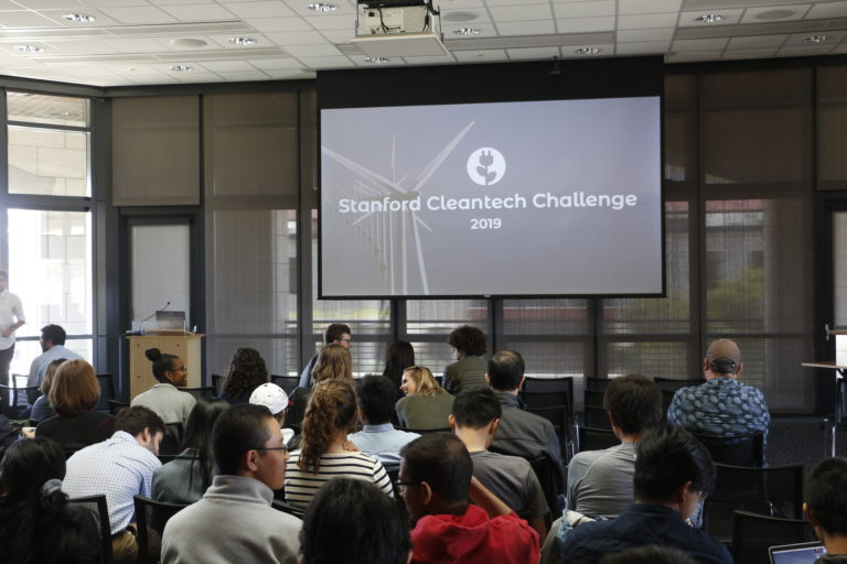 Audience at Stanford Cleantech Challenge 2019