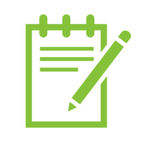 pen and notepad graphic