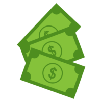 dollar bills graphic