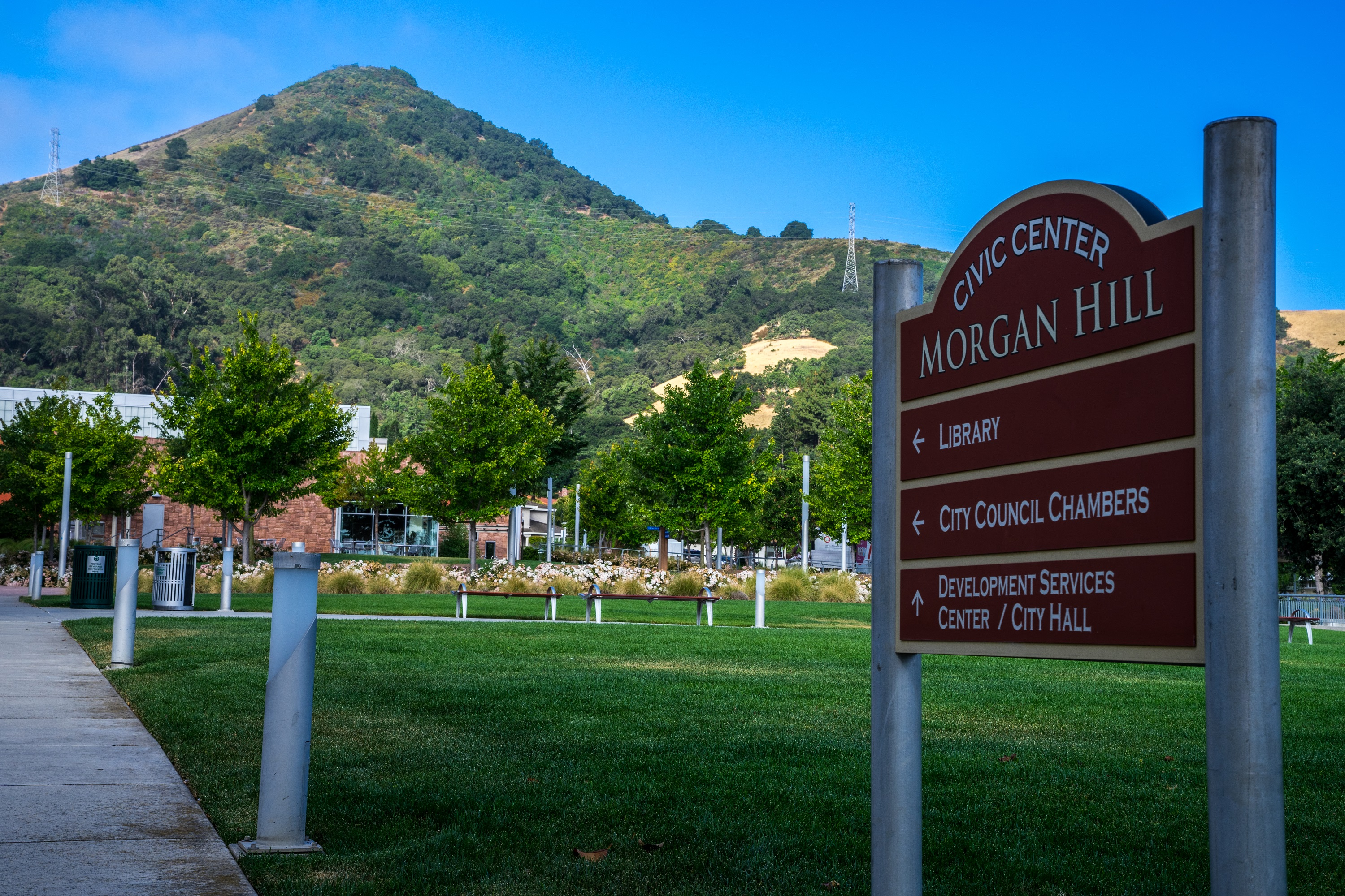 Morgan Hill Civic Center Sign