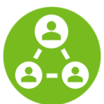 outreach icon - illustrating a network